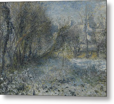 Snow Covered Landscape Metal Print by Auguste Renoir