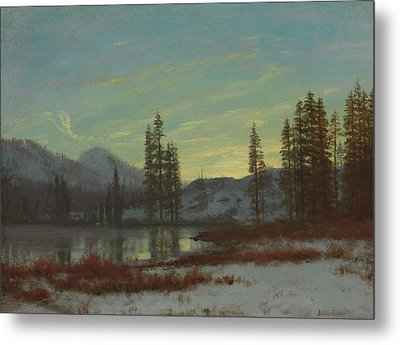 Snow In The Rockies Metal Print by Albert Bierstadt