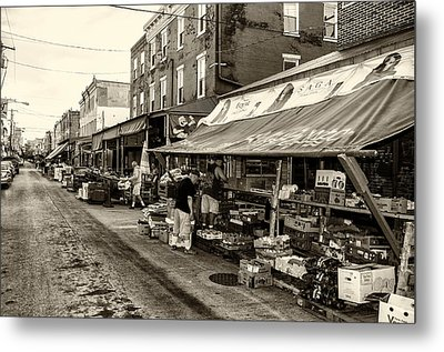 South Philly - Italian Market Metal Print by Bill Cannon