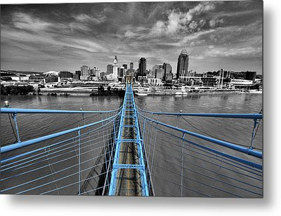 South Tower - Selective Color Metal Print by Russell Todd