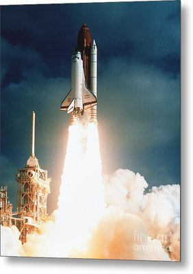 Space Shuttle Launch Metal Print by NASA Science Source