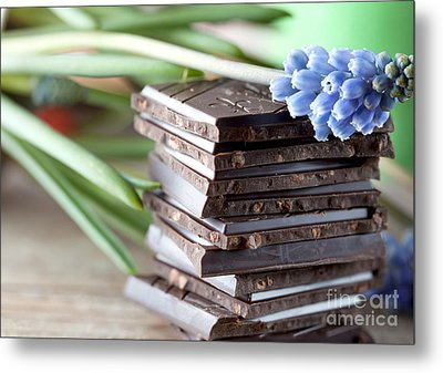 Stack Of Chocolate Metal Print by Nailia Schwarz