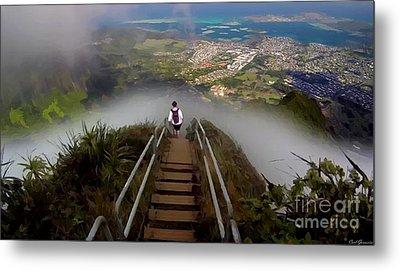 Stairway To Heaven Hawaii 3 Metal Print by Carl Gouveia