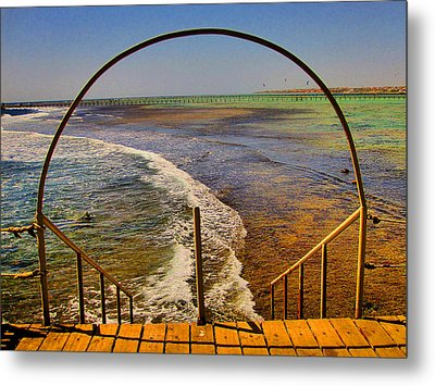 Stairway To The Sea. Sea. Rusty Iron And Corals. Metal Print by Andy Za