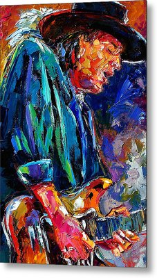 Stevie Ray Vaughan Metal Print by Debra Hurd