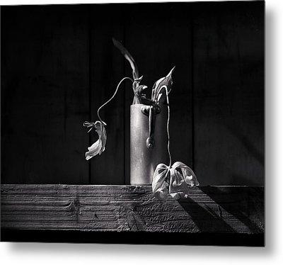 Still Life With Tulip Metal Print by Nailia Schwarz