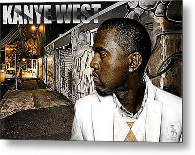 Street Phenomenon Kanye West Metal Print by The DigArtisT