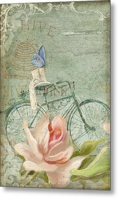 Summer At Cape May - Bicycle Metal Print by Audrey Jeanne Roberts