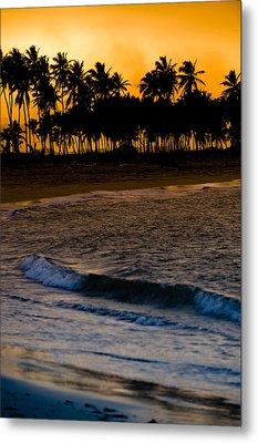Sunset At The Beach Metal Print by Sebastian Musial