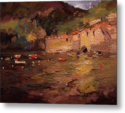 Sunset In Vernazza Metal Print by R W Goetting