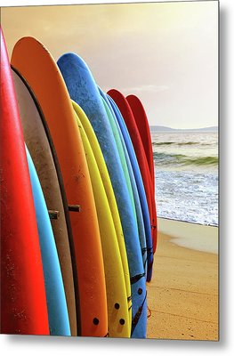 Surf Boards Metal Print by Carlos Caetano