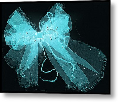 Tattered And Blue Metal Print by Dolly Mohr