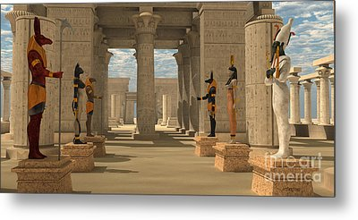 Temple Of Ancient Pharaohs Metal Print by Corey Ford