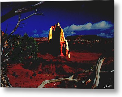 Temple Of The Moon 2 Metal Print by John Foote