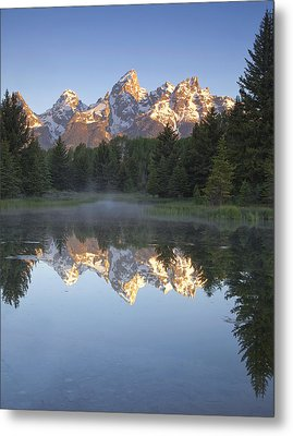 Teton Reflections Metal Print by Andrew Soundarajan