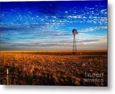Texas Plains Windmill Metal Print by Fred Lassmann