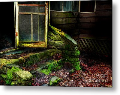The Back Door Metal Print by Michael Eingle