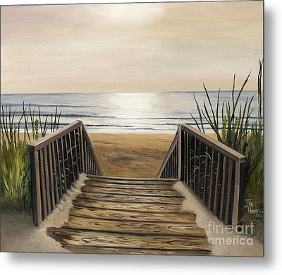 The Beach Metal Print by Toni  Thorne