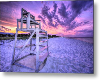 The Lifeguard Stand Metal Print by JC Findley