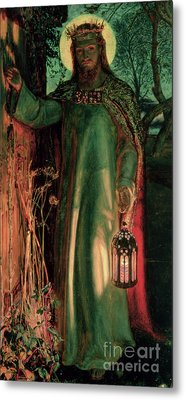 The Light Of The World Metal Print by William Holman Hunt