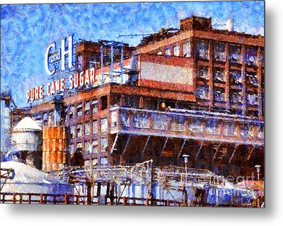 The Old C And H Pure Cane Sugar Plant In Crockett California . 5d16769 Metal Print by Wingsdomain Art and Photography