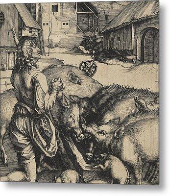 The Prodigal Son Metal Print by Albrecht Durer or Duerer
