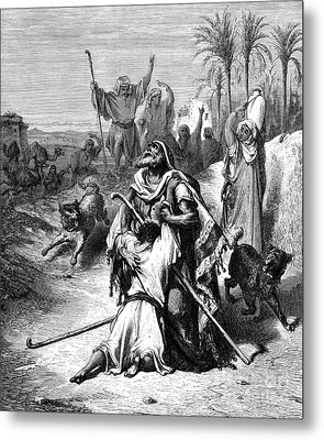 The Return Of The Prodigal Son Metal Print by Gustave Dore
