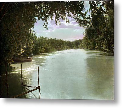The River Jordan, Holy Land, Jordan Metal Print by Everett