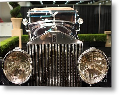 The Rolls Royce Metal Print by Wingsdomain Art and Photography