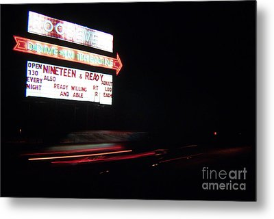 The Roosevelt Drive Inn Metal Print by Corky Willis Atlanta Photography