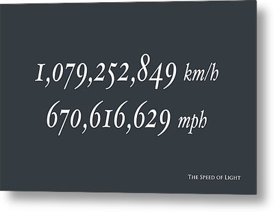 The Speed Of Light Metal Print by Michael Tompsett