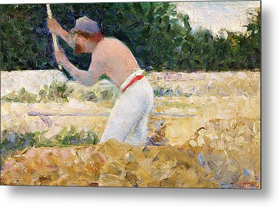 The Stone Breaker Metal Print by Georges Pierre Seurat