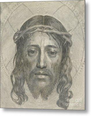 The Sudarium Of Saint Veronica Metal Print by Claude Mellan