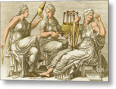 The Three Fates Metal Print by Photo Researchers
