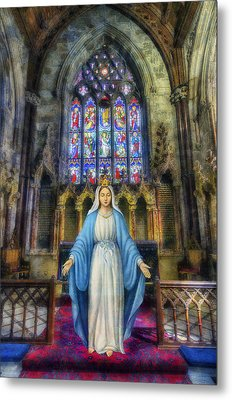 The Virgin Mary Metal Print by Ian Mitchell