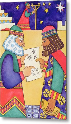 The Wise Men Looking For The Star Of Bethlehem Metal Print by Cathy Baxter