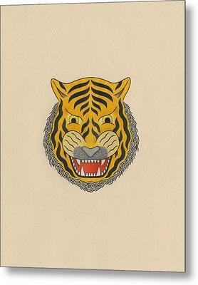 Tiger Head Metal Print by Matt Leines