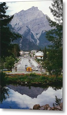 Town Of Banff Metal Print by Shirley Sirois
