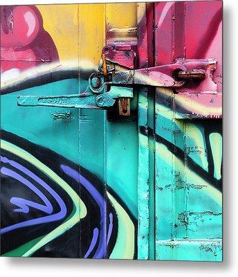 Train Art Abstract Metal Print by Carol Leigh