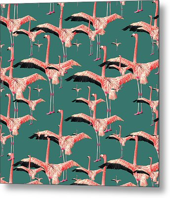 Tropical Flamingo  Metal Print by Mark Ashkenazi