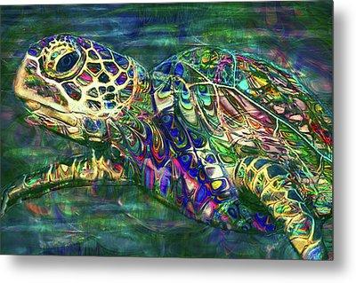 Tropical Sea Turtle 2 Metal Print by Jack Zulli