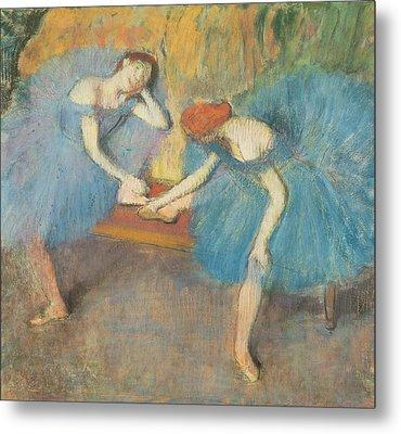 Two Dancers At Rest Metal Print by Edgar Degas
