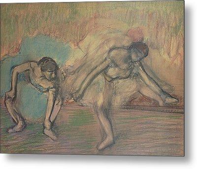 Two Dancers Resting Metal Print by Edgar Degas