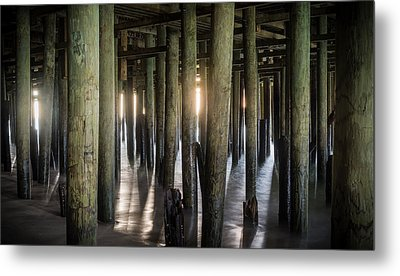 Under The Boardwalk Metal Print by Kristopher Schoenleber