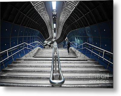 Underground Stair Metal Print by Svetlana Sewell