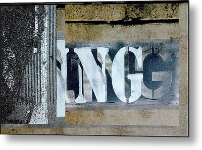 Urban Abstracts Seeing Double 38 Metal Print by Marlene Burns