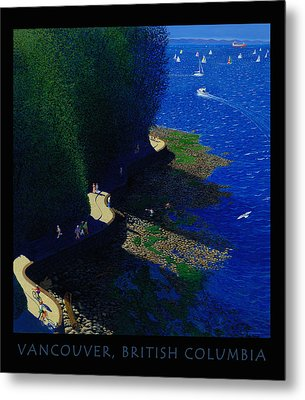 Vancouver North Seawall Poster  Metal Print by Neil Woodward