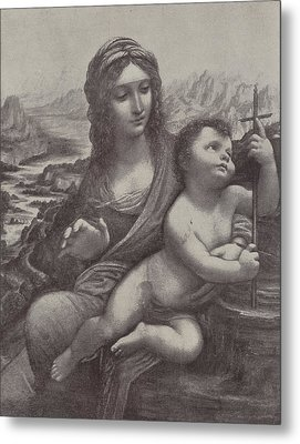Virgin And Child Metal Print by Leonardo Da Vinci