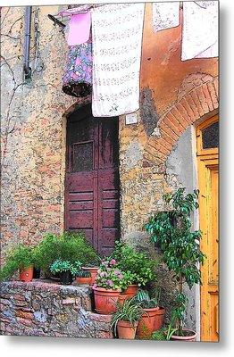 Washing Day Tuscany Metal Print by Jan Matson