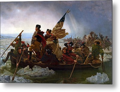 Washington Crossing The Delaware Metal Print by Emanuel Leutze